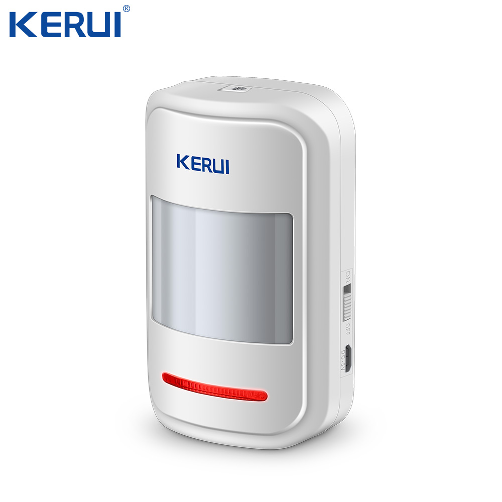 Kerui Rechargeable 5V USB 433MHz Wireless PIR Sensor Motion Detector For GSM PSTN  Security System Auto Dial Alarm Kit