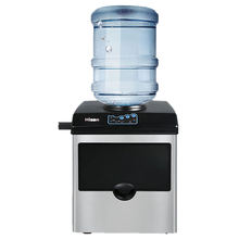Máquina de Fabricación de hielo comercial eléctrico para uso doméstico, máquina automática para hacer cubitos de hielo, de 220V, HZB-25/BF