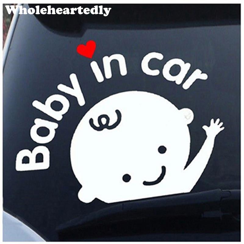 Nova chegada bonito etiqueta do carro do bebê em etiqueta do carro dos desenhos animados adorável decalques para o bebê a bordo decoração do carro para volvo ford etc