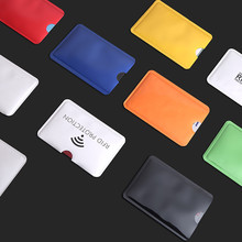 1pcs Anti-Scan Card Sleeve Credit RFID Card Protector Anti-magnetic Aluminum Foil Portable Bank Card Holder(China)