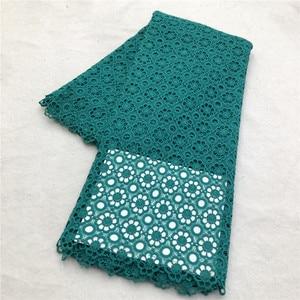 Image 2 - MAIGALAN tissu de haute qualité en dentelle nigériane, tissu de haute qualité en dentelle nigériane, 100% coton/cordon guipure pour fête de mariage, SML788 02