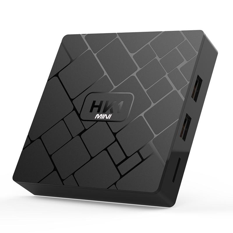 ABKT-nouveau lecteur multimédia haute vitesse HK1 Mini Android 8.1 Rk3229 puce 2G + 16GB 4k décodeur réseau HDMI2.0 Wifi Tv Box prise ue