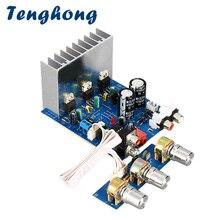 Placa amplificadora de som tenghong tda2030, 15w * 2 + 30w 2.1, amplificador de áudio potente dual AC12V 15V amplificador estéreo,