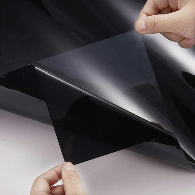Image 5 - 300cmx50cm Black Car Window Foils Tint Tinting Film Roll Car Auto Home Window Glass Summer Solar UV Protector Sticker Films-in Side Window from Automobiles & Motorcycles
