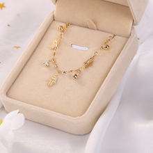 2019 new palm crystal moon pendant necklace ladies retro charm party jewelry accessories