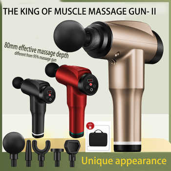 LCD Display Massage Gun Deep Muscle Massager Muscle Pain Body Massage Exercising Relaxation Slimming Shaping Pain Relief - Category 🛒 All Category