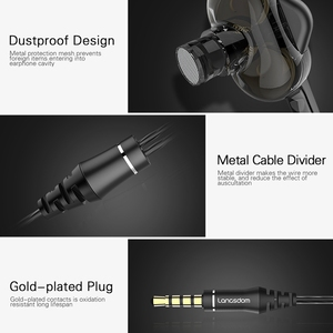 Image 5 - Langsdom D4C Wired Earphone Headphones with Microphone Dual Driver Phone Earphones Type C Ear Phones auriculares fone de ouvido
