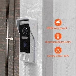 Image 5 - Видеодомофон, 7 дюймов, домофон wifi, IP, беспроводной дверной звонок, колонка, система контроля доступа, сенсорный экран, обнаружение движения