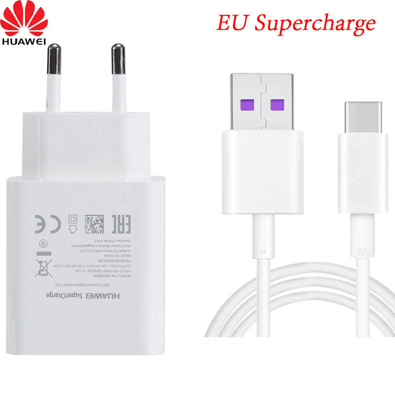 Original Huawei 4.5V 5A Supercharge Quick Charger สำหรับ Huawei P20 Pro P20 Lite Mate 10 Mate 20 Pro 5A ประเภท C-สาย