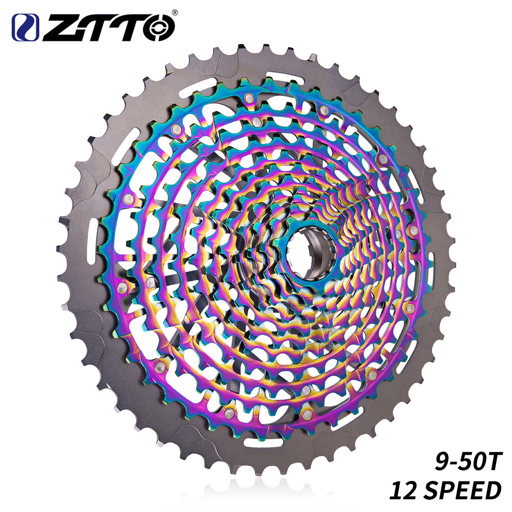 ZTTO MTB 12 Speed 9 50T Cassette Ultimate XD Cassette Rainbow 375g ZTTO ULT Cassette Ultralight 12s Cassette 1299 k7 Colorful-in Bicycle Freewheel from Sports & Entertainment