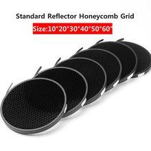 Réflecteur Standard en aluminium nid dabeille grille 6.7 17cm 2/3/4/5/6/7mm pour Bowens Standard réflecteur grille photographie Studio
