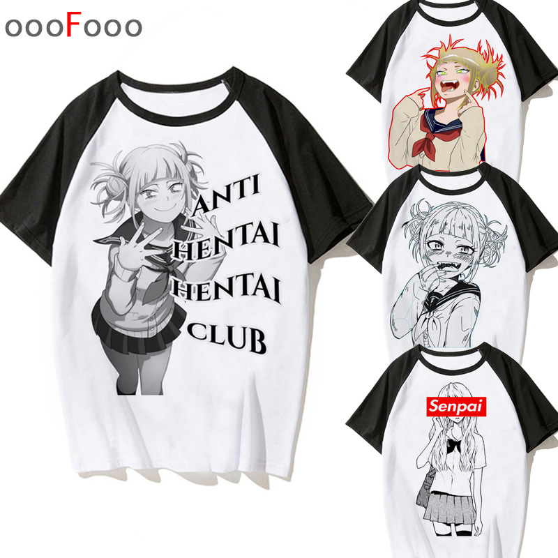 Senpai T Shirt Men Himiko Toga Male/women Cartoon T-shirt Print Boku No Hero Academia Tee Shirt Tshirt Harajuku Waifu