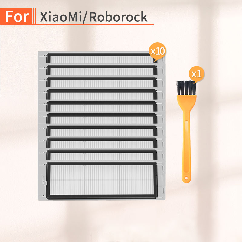 10PCS Robot Vacuum Cleaner HEPA Filter Accessories For Xiaomi 1S 2S Roborock S50 S6 S55 Vacuum Cleaner Replacement Parts