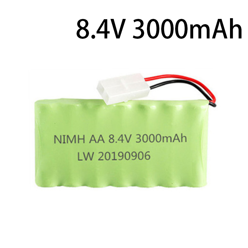 8.4v 3000mah NiMH Battery For Rc toy Car Tanks Trains Robot Boat Gun Ni-MH AA 2400mah 8.4v Rechargeable Battery image