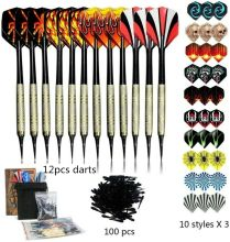 100 Pcs Dart Set Multiple Styles Darts Flights Professional Darts Soft Plastic Tips Set For Electronic Dartboard Accessories