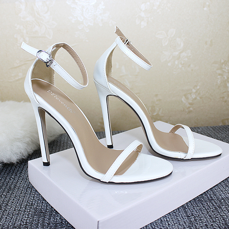 Women Sandals Sexy Fashion Summer New Super High (8cm-up Plus Size 11cm High Heels Solid Party Pumps Shoes Female Sandals 35-43