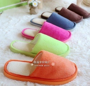 winter  shoes  Home slippers winter slipper, fleece slipper long flush warming  homing slippers, indoor shoesTX001 1pair=2pcs