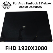 90NB0EI1-R20020 For Asus ZenBook 3V Deluxe UX490 UX490UA UX490UAR Panel Glass Monitor LCD Display complete assembly Back cover