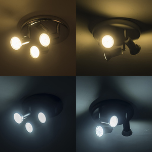 Image 5 - Surface mounted led Ceiling Spotlight 3 Lights rotatable Modern Decoration Lamps for living room bedroom kitchen home lighting