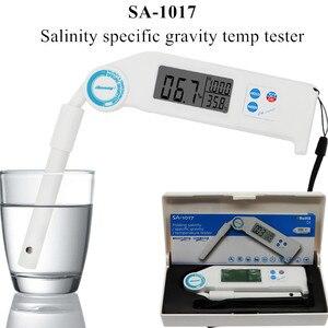 SA-1017 складной измеритель температуры с удельным весом солености соли/S.G/темп метр для аквакультуры плавания