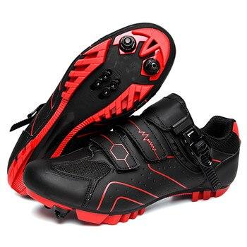2020 novo tamanho grande mtb sapatos de ciclismo respirável ao ar livre estrada de corrida de bicicleta botas de tornozelo atlético auto-travamento tênis homem 1