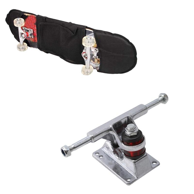 1set Skateboard Tools 2pcs 3.25 Bridge Bracket Truck Longboard Parts Active Gravity Casting Professional Skateboard Accessories