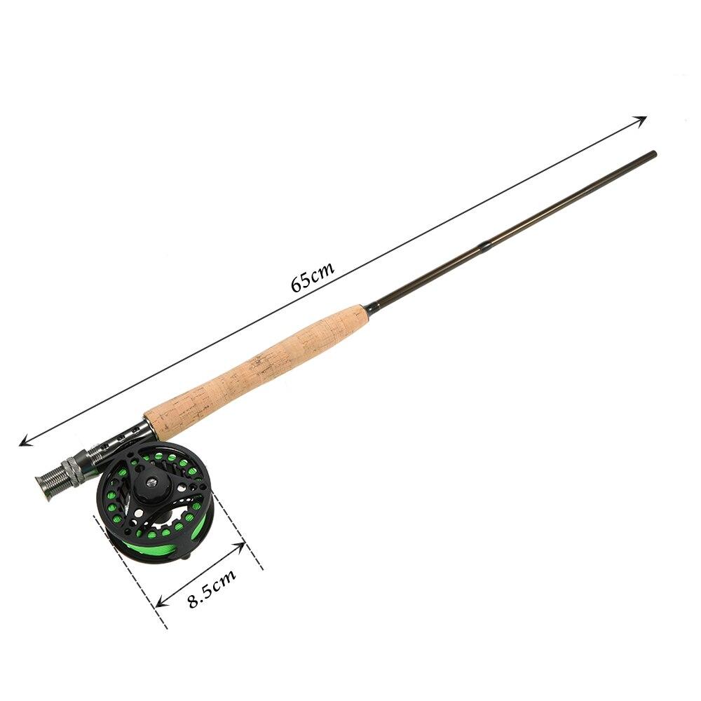 Combinação Pacote Inicial 4-Piece Fly Fishing Rod Pólo com caso Haste De bônus