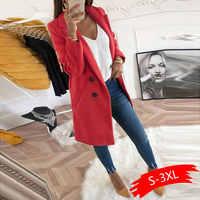 Frauen Plus Größe XXXL Woll Blends Mäntel 2019 Herbst Winter Langarm Casual Oversize Outwear Jacken Mantel