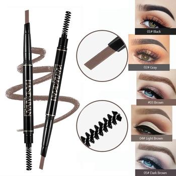 2 In 1 Crayon Sourcil Eyebrow Tattoo Pen Waterproof Eyeliner Pen 2 Heads Microblading Cejas Maquillaje Makeup Sombrancelha 1