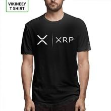 Футболка с надписью «Side By Side Ripple Coin XRP», уникальный дизайн, футболка из органического хлопка, модная мужская футболка, футболки для улицы