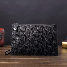 Genuine Leather Men Wallets for Credit Card Holder Clutch bags Coin Purse Male Long Purses carteira masculina Wristlets handbags new alligator 100% genuine leather men wallets long man purses vintage brand male money bag retro carteira masculina card holder