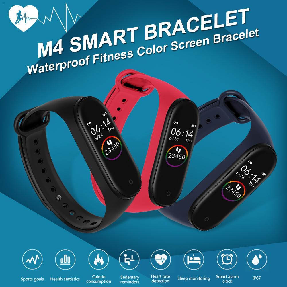 M4 Smart Bracelet Waterproof Pedometer Heart Rate Monitor Sports Health Watch Walk Step Counter Tracker Fitness Band Low Version