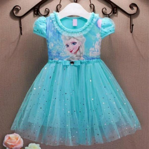 Girl Frozen Dresses Summer Baby Kid Clothes Princess Anna Elsa Dress Snow Queen Cosplay Costume New Years Party Dress