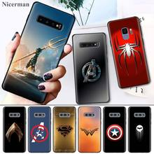 Super Batman Heroes Logo Back Case Cover Coque for Samsung Galaxy S8 S9 S10 S10e 5G Note 8 9 10 5G Plus S7 S7 Edge S8+ S9+ S10+ цены онлайн