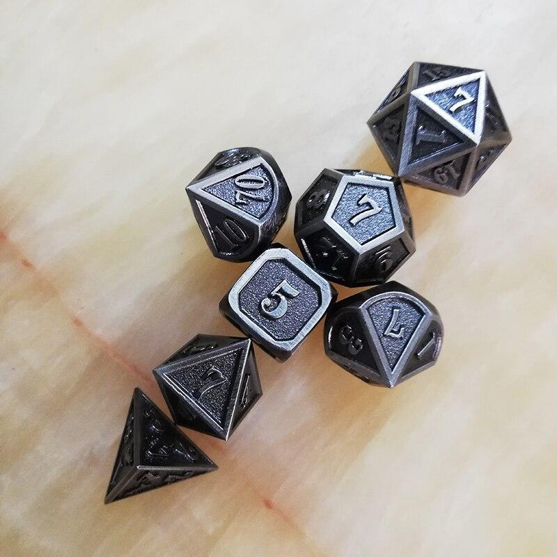 polyhedral d20 10 6 8 12 azul