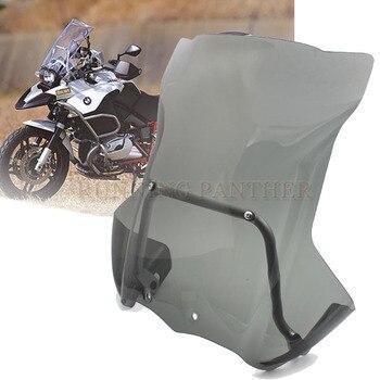 Windshield WindScreen w/ Mount Support Bracket+Windshield Side For BMW R 1200 GS Adventure 2005-2012