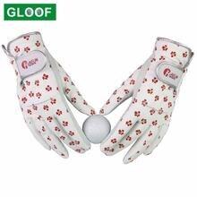 1 пара женские кожаные перчатки для гольфа