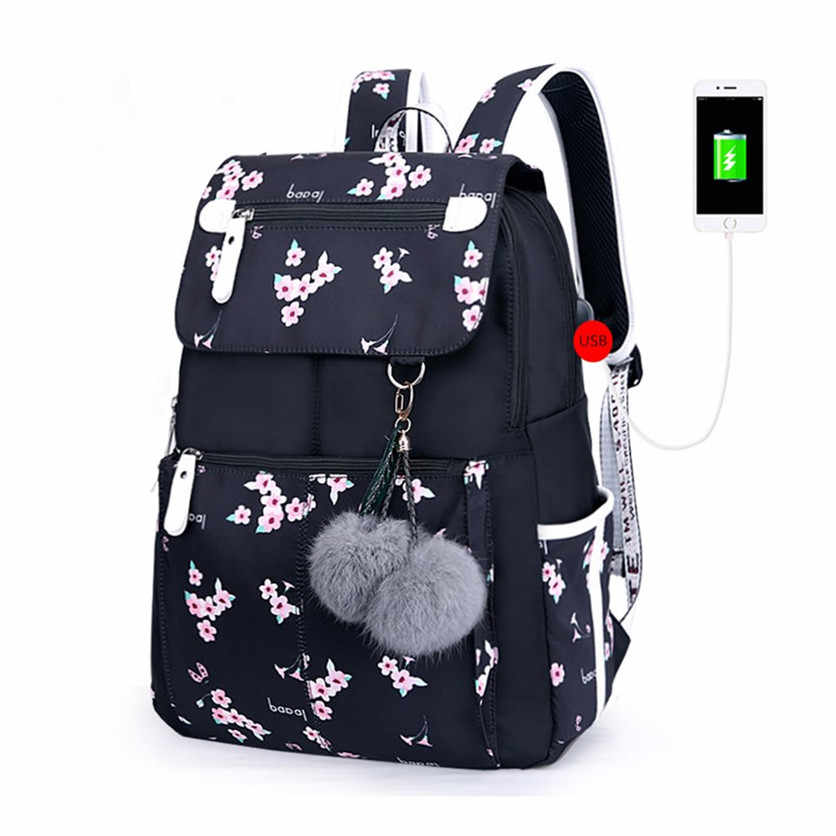 FengDong plecak szkolny dla dzieci dla dziewcząt torby szkolne dla kobiet torba na ramię futrzana kulka bowknot plecaki dla nastolatek dziewczyny dropshipping