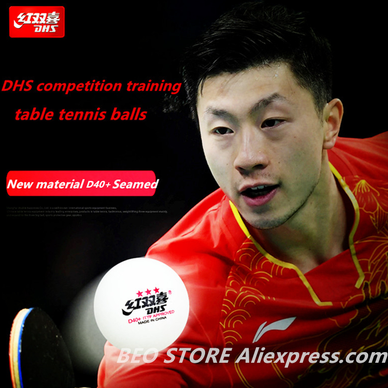 50 Balls/100 Balls DHS 3-star D40+ Table Tennis Ball Original 3 Star Seamed New Material ABS Plastic Ping Pong Balls Poly