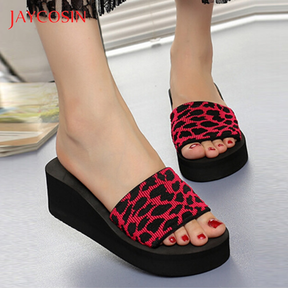 JAYCOSIN Summer Women Shoes Platform Bath Platform Slippers Wedge Beach Slope Flops Slippers Shoes Woman zapatos de mujer slides 1
