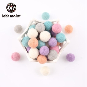 Image 3 - 100PCS 20mm 100% Wool Felt Balls DIY Balls Hanging Accessories Candy Color Wool Ball For Kids Room Decoration Nursery Home Decor
