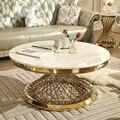 Итальянский стиль  современный мраморный журнальный столик  большой круглый  роскошный  для гостиной  скандинавский  из нержавеющей стали  ...
