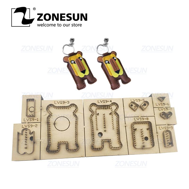 ZONESUN personnalisé Lion porte clés découpe pour porte clés fait main bricolage décoration en acier règle en cuir Clicker moule de découpe
