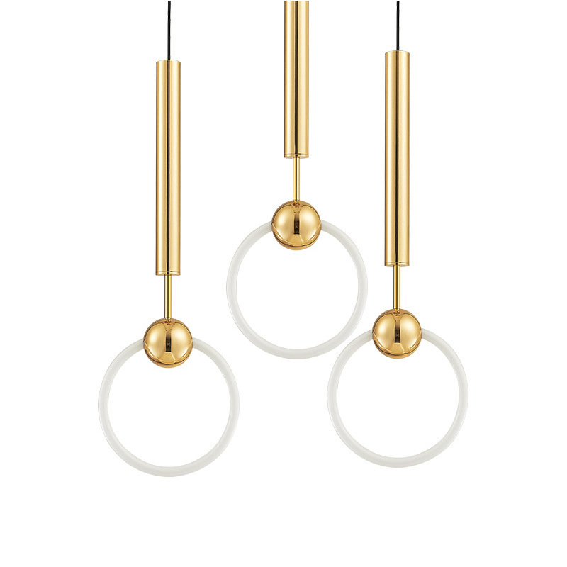 Modern Gold Metal LED Pendant Lamp For Bedroom Living Room Art Decoration Light Fixture Luminaria LED Pendant Lighting