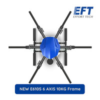 NEW EFT E610S 6 Axis 10KG/10L spraying gimbal system Folding Quadcopter Spray pump Agriculture drone