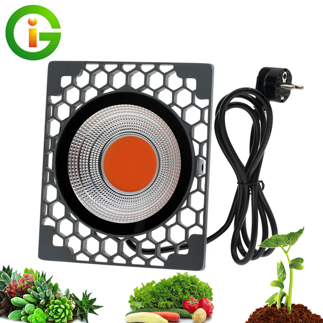 LED Grow Light 500W Full Spectrumประสิทธิภาพการส่องสว่างสูง50W COB PhytoโคมไฟสำหรับโรงงานSeedling Growและดอกไม้