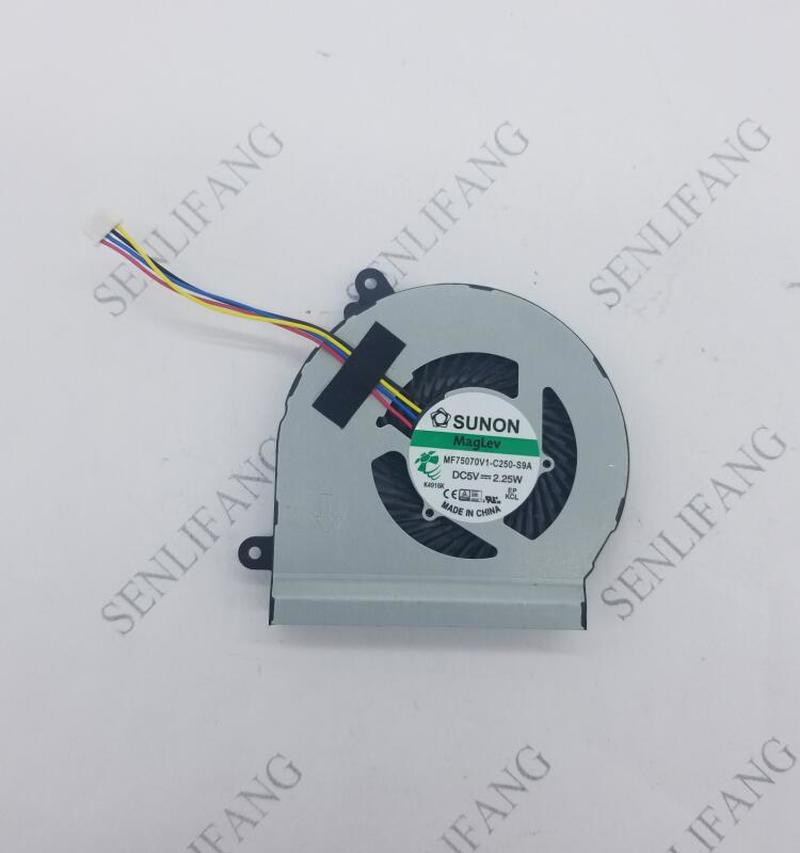 Free Shipping For ASUS VivoPC VM62 For Suono MF75070V1-C250-S9A DC5V 2.25W 4-Pin 4Wire CPU Cooling Fan