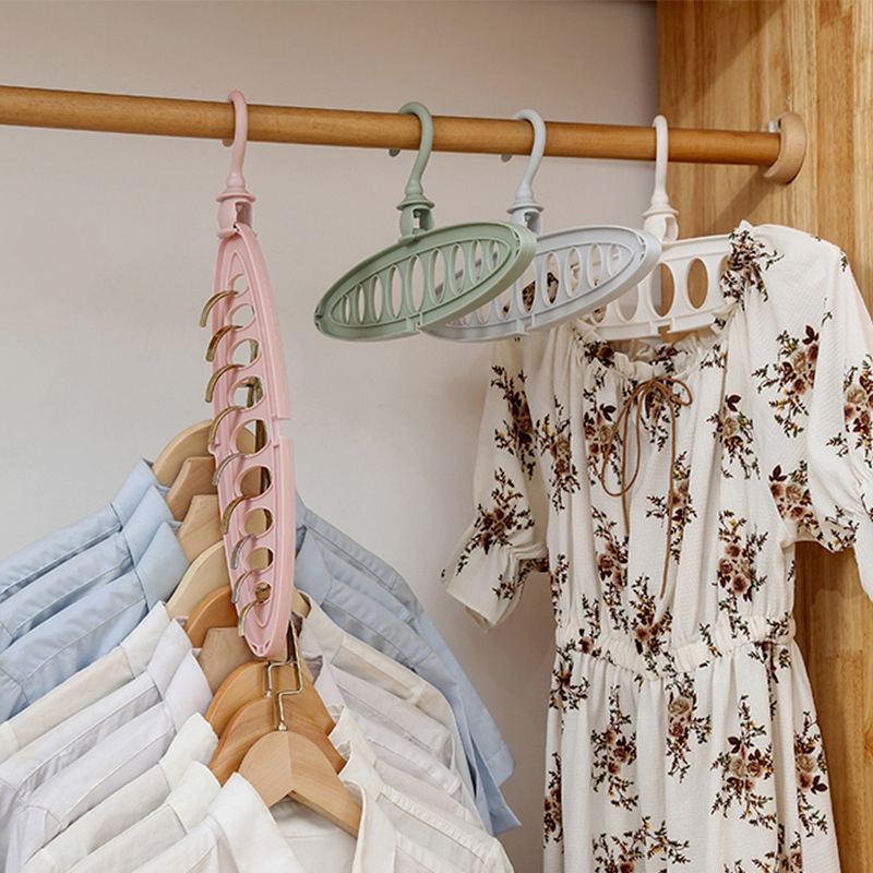 Multi-port Support Circle Clothes Hanger Clothes Drying Rack Multifunction Plastic Hangers Storage Racks  Hangers For Clothes