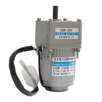 AC15 3GN AC Gear Motor 110V/220V 15W 7.5/15/23/34/54/75/108/150/180/270/450Rpm High Torque AC Motor With 3GN Gearbox