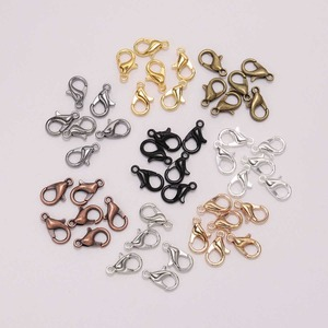 50pcs/lot 12*6mm Bronze Gold Alloy Lobster Clasp Hooks Supplies For Jewelry Making Finding DIY Chain Necklace Bracelet